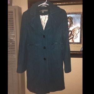Teal color coat